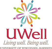 UWell logo. Living well. Being well. University of Wisconsin-Madison.